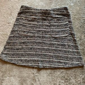 LOFT Multicolored Tweed Skirt